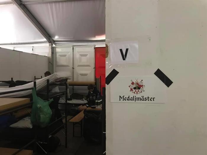 Medalljmäster har checkat in på Camp Heumenoord