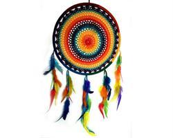 Drömfångare - Rainbow makramé 32cm (6 pack)