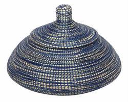 Korg med lock - Blå & blå (4 pack)
