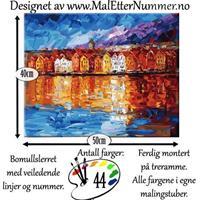 Mal etter nummer, Bryggen 40*50cm