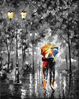 Mal eller nummer, Kveldsvandring i regn 40*50cm (YC2239)