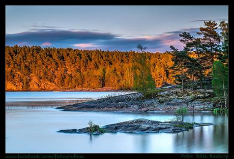 Oksenøya på kveldstid