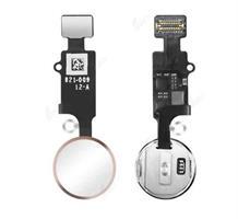 iPhone 8/8+/7/7+ Hjem knapp m/Flex - Rose Gull
