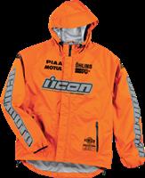 Icon Orange PDX Rain Jacket Large