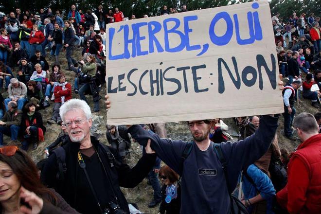 Demonstration i södra Frankrike