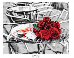 Male etter nummer, Roser på bord 40*50cm (6755)