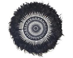 Papua - Virkad fjäderdekoration svart (2 pack)
