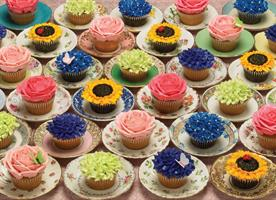 Puslespill Cupcakes and Saucers, 1000 brikker