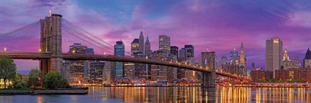 Puslespill Panorama Brooklyn Bridge, 1000 brikker