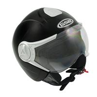 GSB Half Face Road Helmet G-247 Matt sort- Medium