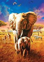 Puslespill Mother Elephant, 1000 brikker