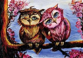 Puslespill The Owls in Love, 1000 brikker