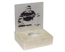 Teljushållare - Happy Buddha spegel (6 pack)