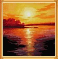 Diamond Painting, Solnedgang 66,3*66,3 FPR