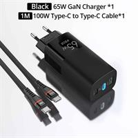 PZOZ 65W Fast Charging USB-C lader m/USB-C kabel