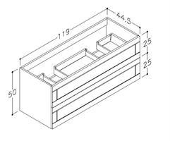 Underskåp Adagio 120 cm DB