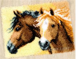 Ryeteppe, 2 Hestehoder 52*38