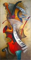 Diamond Painting, Musikkinstrumenter 30*60cm (87278) FPR