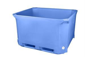 Containertank isolert 1230x1030x760mm 630 L blå
