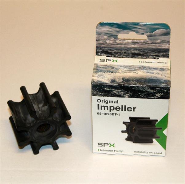 Impeller SPX Johnson, Ø 65mm, b: 50,2mm, för splinesaxel