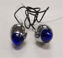 DRAG SPECIALTIES KROMETT W/LIGHTED BLUE TIP