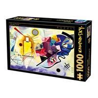 Puslespill Kandinsky, Gelb-Rot-Blau, 1000 brikker