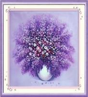 Diamond Painting, Lilla blomst 42*42cm (H0636) DPR