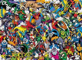 Puslespill Justice League, 1000 brikker