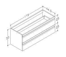 Underskåp bänk Terra 120 cm