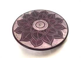 Rökelsehållare - Täljsten chakra lotus (4 pack)