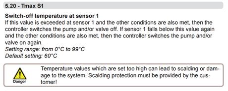 Ställ in max temp på sensorer S1 S2 och ev S3 tex 85C