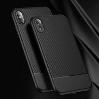 iPhone Xs Max Carbon Fiber TPU Beskyttelse Deksel