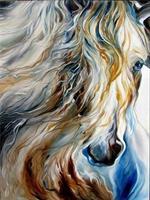 Diamond Painting, Hest i pastell 50*70cm FPR