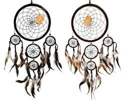 Drömfångare - 5 ringar brun & svart mix (12 pack)