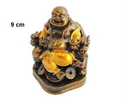 Laughing Buddha - Guld 9cm mix (6 pack)