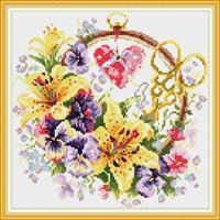 Diamond Painting, Blomsterring H229 36,4*36,4cm FPK