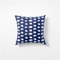 Kuddfodral blå elefanter Bomull 50x50 enkelsidig