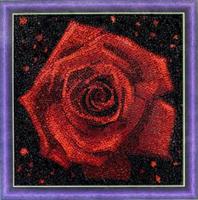 Diamond Painting, Rød rose 30*30cm (AC822) GLITTER