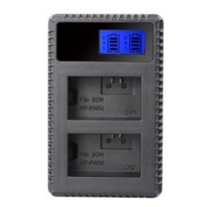 Dobbeltlader for Canon LP-E6(n) batterier m/Disp