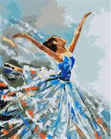 Mal eller nummer, Blå Ballerina 40*50cm