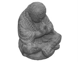 Shaolin monk - Prayer grå 40cm (2 pack)