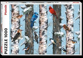 Puslespill Christmas Birds 1000 brikker