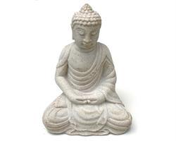 Buddha - Vit 20cm (6 pack)