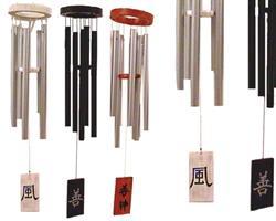 Vindspel - Japanska symboler 60cm vit (2 pack)