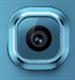 S6 Edge Kamera Glass m/ramme - Grønn