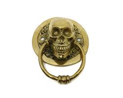 Brons - Guld skalle dörrknackare  (2 pack)