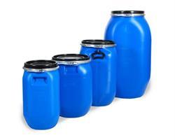 Plasttønne 125 liter firkantet, blå