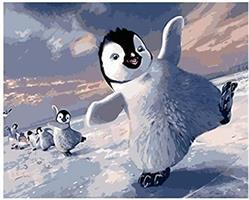 Mal eller nummer, Pingvin 50*40cm (YC2312)