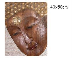 Träsniderier - Buddha ansikte Thailand (2 pack)