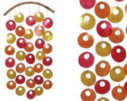 Mobil - Snäckskal röd, orange & gul (12 pack)